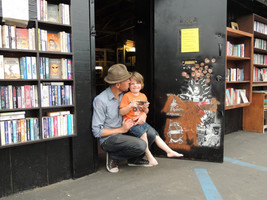 Sean Christopher and Jack at Lhooq Books